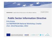 Public Sector Information Directive - INSPIRATION