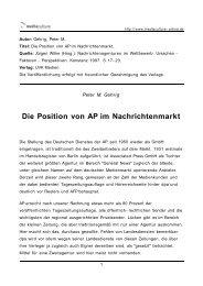 Die Position von AP im Nachrichtenmarkt - Mediaculture online