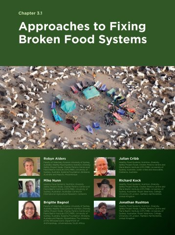 Approaches to Fixing Broken Food Systems