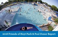 2016 Friends of Hoyt Park & Pool Donor Report