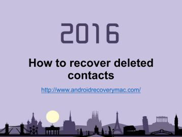 How to recover deleted contacts