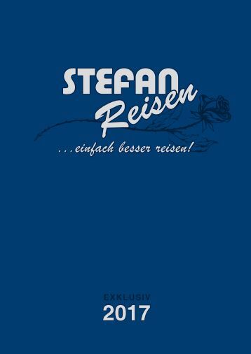 Reiseprospekt Stefan Reisen 2017