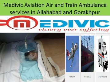 Affordable Cost and Best Medical Air and Train Ambulance Services Allahabad and Gorakhpur