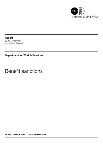 Benefit sanctions