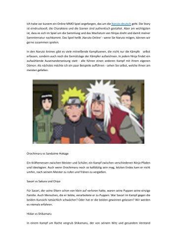 Welche Naruto Szene hat Sie am meisten gerührt