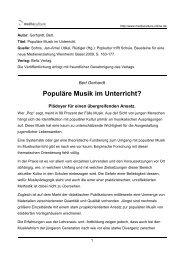 Populäre Musik im Unterricht? - Mediaculture online