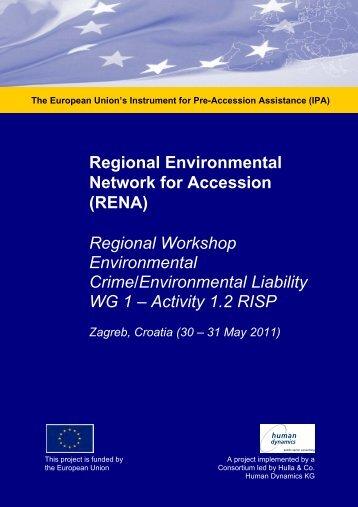 Regional Workshop Environmental Crime/Environmental ... - RENA