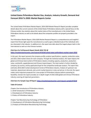United States Pirfenidone Market
