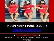Pune Call Girls Services- Shikha Shirivastav