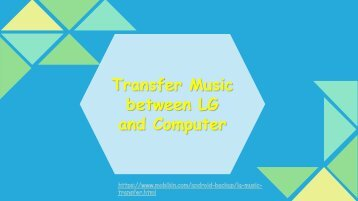 Transfer Music between LG and Computer