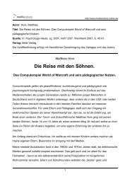 Die Reise mit den Söhnen. - Mediaculture online