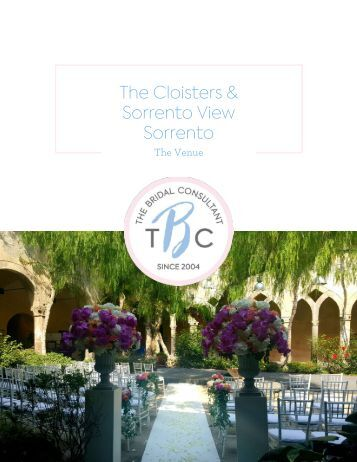 08. Photos - Italy - Sorrento -Cloisters & Sorrento View Wedding