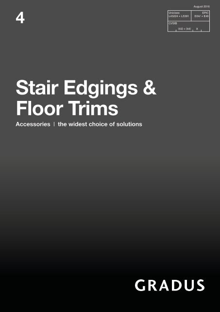 Catalogue Stair Edgings Floor Trims 4