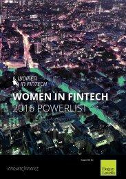 WOMEN IN FINTECH 2016 POWERLIST