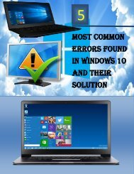 5 Most Common Errors Found in Windows 10 and Their Solution