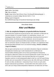 Alter und Medien - Mediaculture online