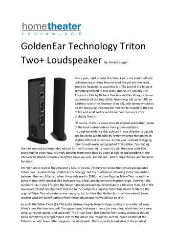 GoldenEar Technology Triton Two+ Loudspeaker