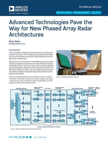 Advanced Technologies Pave the Way for New Phased Array Radar Architectures