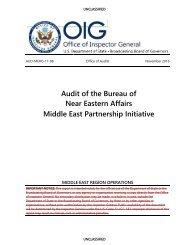 Audit of the Bureau of Near Eastern Affairs Middle East Partnership Initiative