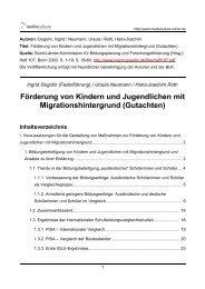Förderung von Kindern  und Jugendlichen mit Migrationshintergrund ...