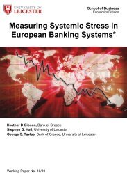 Measuring Systemic Stress in European Banking Systems*