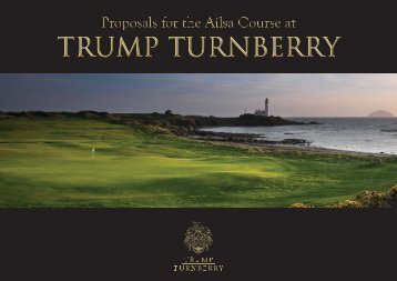 Proposals for the Ailsa Course at Trump Turnberry Booklet 2015