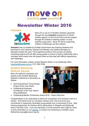 Newsletter Winter 2016