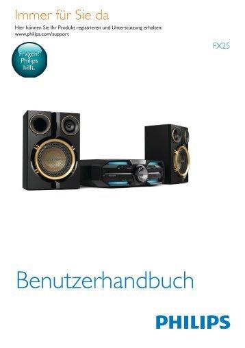 Philips Minichaîne hi-fi - Mode d'emploi - DEU