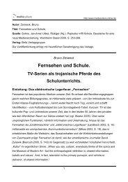 Fernsehen und Schule. - Mediaculture online