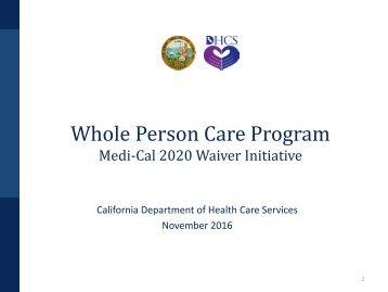 Whole Person Care Program