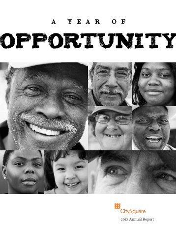 2013 CItySquare Annual Reports