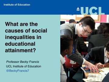 What are the causes of social inequalities in educational attainment?