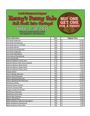 Penny-Sale-List