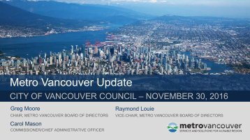 Metro Vancouver Update