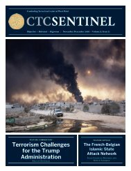 Terrorism Challenges for the Trump Administration