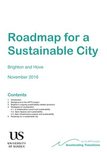 Roadmap for a Sustainable City