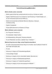 Benötigte Technik / Ausrüstung / Material - Mediaculture online