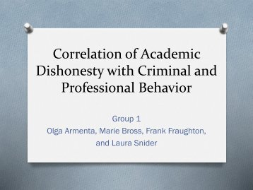 Dishonesty with Criminal and Professional Behavior