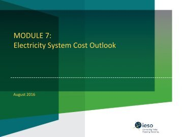 MODULE 7 Electricity System Cost Outlook