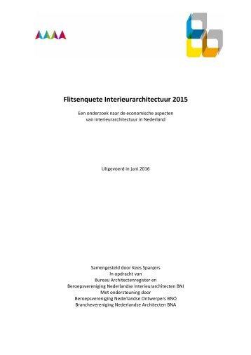Flitsenquete Interieurarchitectuur 2015