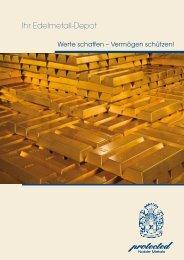 Märkte, Zahlen & Fakten - protected Noble Metals