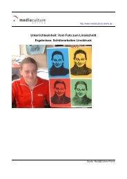 Schülerarbeiten Linolschnitt - Mediaculture online