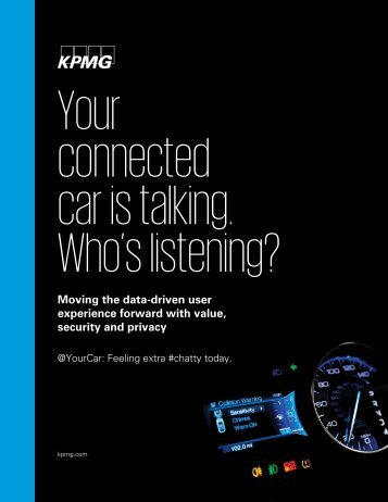 Your connected car is talking Who's listening?