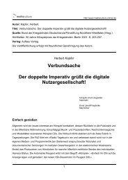 Verbundsache Der doppelte Imperativ grüßt die digitale ...