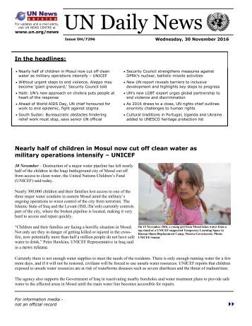 UN Daily News