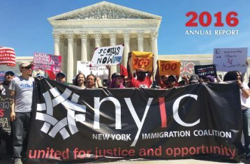 The New York Immigration Coalition's 2016 Annual Report