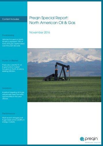 Preqin Special Report North American Oil & Gas