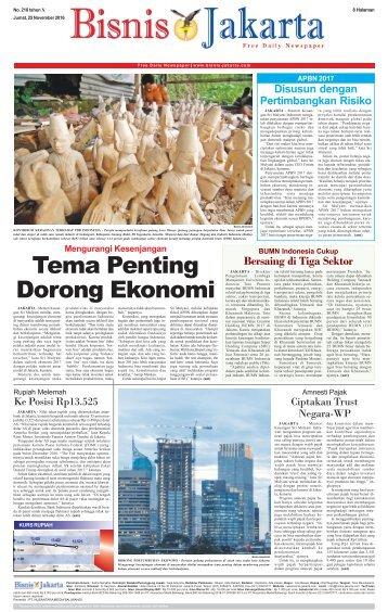 Bisnis Jakarta 25 November 2016