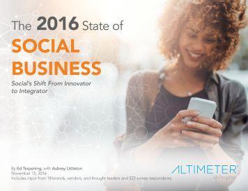 2016 SOCIAL BUSINESS