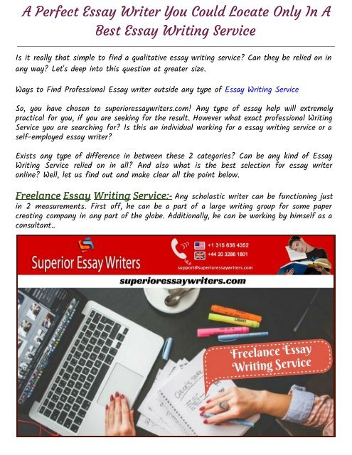Ways to Find Professional Essay writer outside any type of
